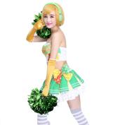 ROLECOS Hanayo Koizumi Sweet Cheerleaders Uniform Fancy Dress Costume Outfit M