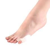 Happy Hours - 1 Pair Kids Sports Big Toe Silicone Hallux Valgu Bunion Pads / Foot Toe Pain Protection Splint Corrector / Adult Small Toe Adjuster Straightener