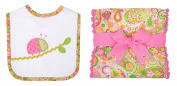 3 Marthas Boutique Bib and Fancy Burp Cloth Set