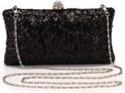 Vintage Women Sequins Dazzling Glitter Hard Case Clutch Bag Evening Party Bag