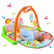 Babyhugs® Colourful Baby Play Gym Activity Mat with Piano and Detachable Cute Toys