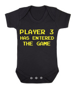 Player 3 has entered the game funny babygrow onesie