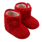 JACKY BabyGirls Boys Bowknot Soft Sole Winter Warm Shoes Boots
