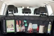 Vinsani Multi Mesh Pocket Hanging Car Boot Storage Organiser - Black
