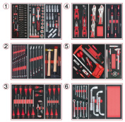 Composition tool drawers to 6 handmaid, 202 pieces KS TOOLS 714.0202