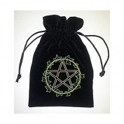 Find Something Different Unisex-Child Ivy Leaf Tarot Bag Luxury Velvet 180 X 130Mm Purse