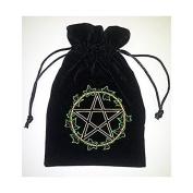 Find Something Different Unisex-Child Ivy Leaf Tarot Bag Luxury Velvet 180 X 130Mm Purse
