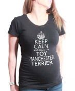 Ladies Maternity T-Shirt Keep Calm Walk Dog *CHOOSE BREED* Toy Group Christmas