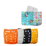 AnotherKiss Baby Resuable Washable Cloth Pocket Nappies With Adjustable Snap,6 pcs+ 6 inserts 16OS6C