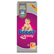 Dodot Activity, Size 4, For Children Weighing 8-14 kg - 48 Nappies