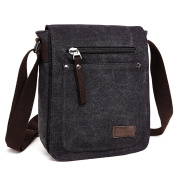 E-Bestar Retro Men's Small Canvas Briefcase Casual Cross Body Messenger Shoulder Bag Everyday Satchel Bags Laptop Bag