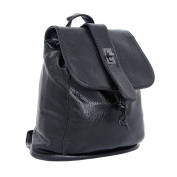DonDon Women's Backpack Synthetic Leather Black