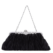 BAIGIO Crystal Diamante Effect Evening Clutch Wedding Purse Party Prom Bridal Handbag Crossbody Bag