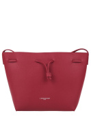 Lancaster Pur bucket bag in red saffiano leather