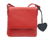 Mala Leather ANISHKA Collection Compact Leather Shoulder / Cross Body Bag 772_75 Red