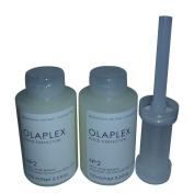 2 of Olaplex No. 2 (100 ml) + 1 of Olaplex Dispenser