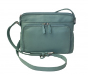 CTM Women's Leather Shoulder Bag Purse with Side Organiser