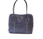 Superflybags Genuine Smooth Leather Handbags / Shoulder Bag Model Nice Made in Italy