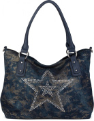 styleBREAKER Women's Shoulder Bag blue Blau-Blau One Size