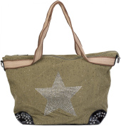 styleBREAKER Women's Shoulder Bag olive One Size