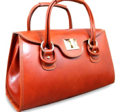 Superflybags Genuine Smooth Leather Handbags Model Martina Made in Italy