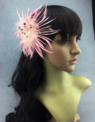 Fascinator Peacock Feather Headdress Wedding Hair Clip with Rhinestones
