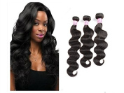 BEST LINA Brazilian Virgin Human Hair Body Wave Weft 3 Bundles Pack 100% Unprocessed Remy Wavy
