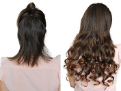 PRETTYSHOP 60cm 5 Clips one piece Full Head Clip In Hair Extensions Hairpiece Curled Wavy Heat-Resisting Different Colours C59-1
