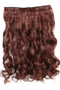PRETTYSHOP 70cm 5 Clips one piece Full Head Clip In Hair Extensions Hairpiece Curled Wavy Heat-Resisting Different Colours C69-1