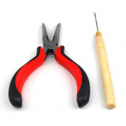 chinkyboo Hair Extension Pliers & Pulling Hook Tool for Silicone Micro Rings Beads Loop UK SELER