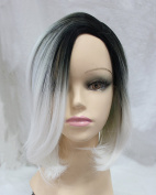 Top Quality Synthetic Two-Tone Colour Ombre Grey BoBo Wigs