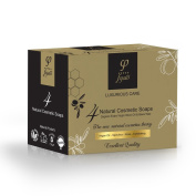 Olive Oil Soap Bar - Luxury Bath Gift Set With 4 Different Soaps - For Face - Body & Hair - 400gr