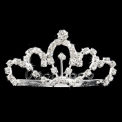 Abeillo Wedding Bridal Crown Headband Tiara Charming Rhinestone Headpiece