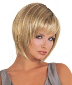 Women's Casual Yellow Short Fluffy Cosplay Wigs with Cap Fancy Dress