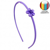 Headband for girl hair cm 0.5 Rubberised with Flower and Rhinestone - Cerchietti for Hair Girl Cerchietti Girl