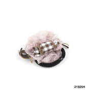 1 Large Hair Scrunchie with Lace Ruffle and Cords 2 Colour Cheque