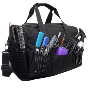 Hairdressing Designer Session Bag Large Mobile Hairdresser Barber Kit Holder in Black