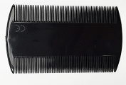 Black Durable Double Sided Nit Combs for Head Lice Dectection Comb Kids Pet Flea