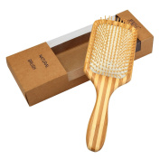 Mokale Natural Bamboo Paddle Hair Brush-Detangling Scalp Massage Hair Comb in an Eco Friendly Box for All Hair Types