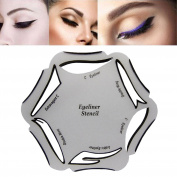 NALATI Makeup Beauty Cat Eyeliner Smokey Eye 6 Model Stencil Template Tool Multi-use Eyeliner Stencil Card