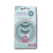 Perfect 10 Instant Lashes - Gorgeous Glimmer Lashes (1 Pair With Glue) [Gorgeous Glimmer, Black, LL_0613]