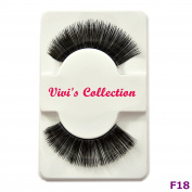 Vivi's Collection F18 Finest Eyelashes Black False Fake Eye Lashes