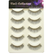 Vivi's Collection 5 Pairs F16 Finest Eyelashes Black False Fake Eye Lashes