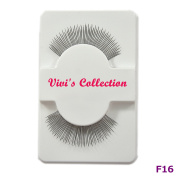Vivi's Collection F16 Finest Eyelashes Black False Fake Eye Lashes