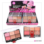 12 x BLUSHER PALETTE with 6 COLOURS 2 DIFFERENT SETS LUXURY CASE WHOLESALE JOB