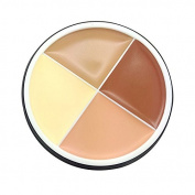 Concealer Cream - M.N 4 Colours Contour Palette Makeup Concealer Cream Long Lasting Waterproof Camouflage Concealer Palette Cosmetics£¨3#£©