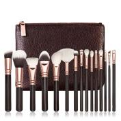 LHWY Make Brushes,15 PCS Pro Makeup Brushes Set Cosmetic Complete Eye Kit + Case for Women Ladies Girls