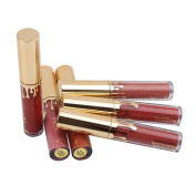 XINW 6Pcs Gold Mini Makeup Matte Liquid Lipstick Waterproof Lip Gloss Set