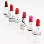 Saffron London Lipstick -Enriched With Vitamins A. C .E (Set of 6 Saffron F Brown ,Red, Pink Colour Lipstick