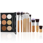 RUIMIO Contour Kit Cream Contour Palette 6 Colours with Makeup Brush Set